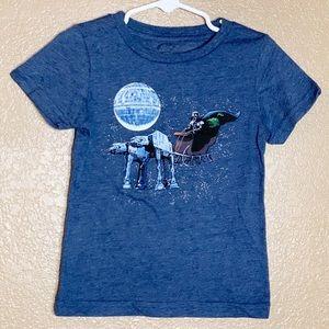 Star Wars Christmas themed short sleeve shirt